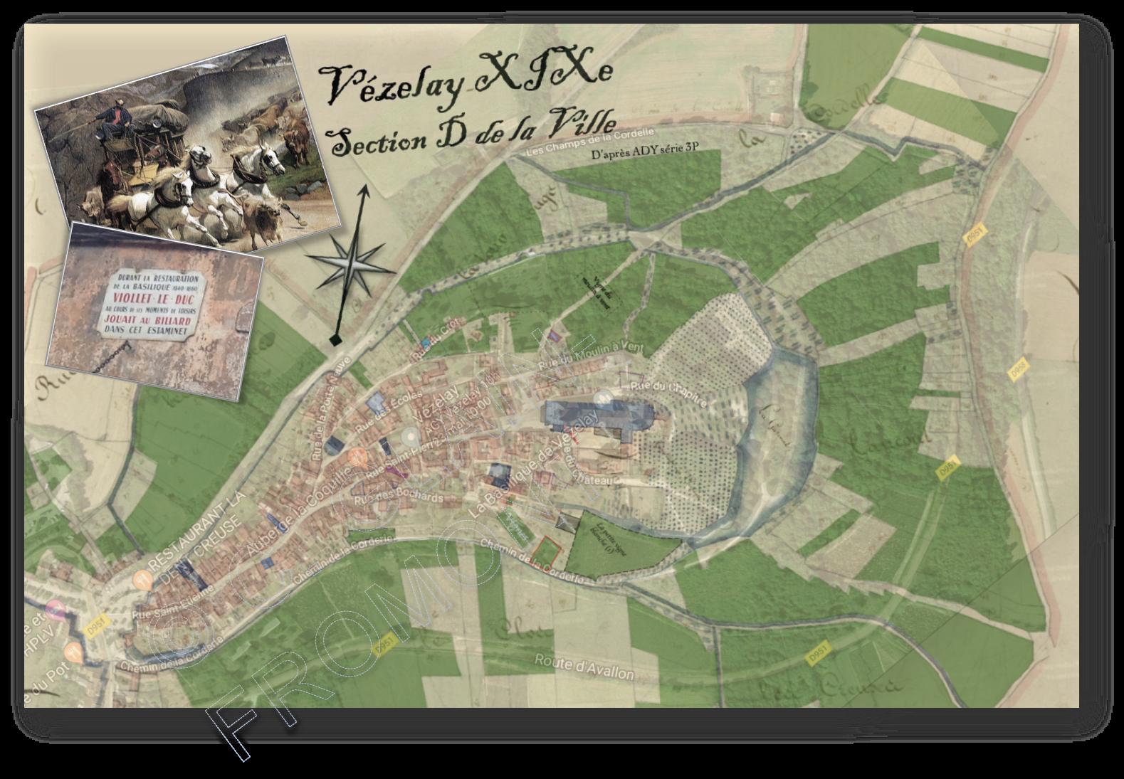 Vézelay en 1819