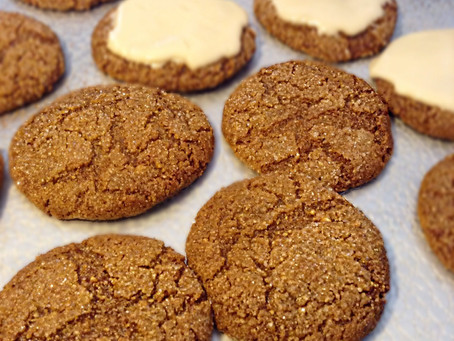 Gingersnaps with Orange Clove Icing