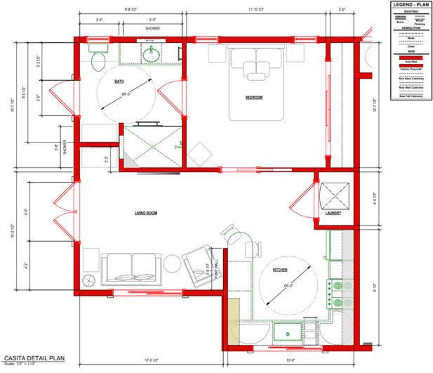 New Casita Build Floor Plan