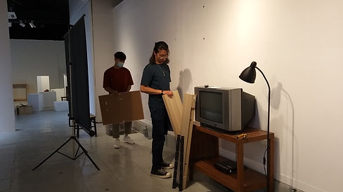 Intern assisted in exhibition set up.jpg