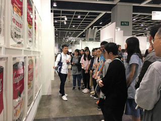 Paid Guided Tour Service for School Group at Art Basel's show in Hong Kong 2019