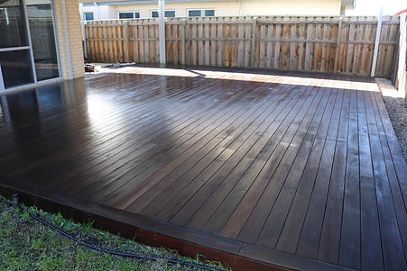 Professionally recovered decking