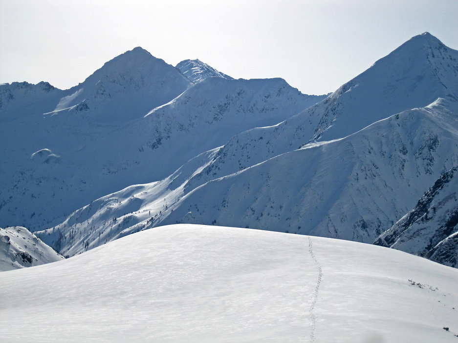 Skitour Hornfeldspitz im Naturpark Sölktäler