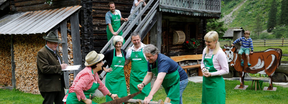 Holz machen Almdiplom
