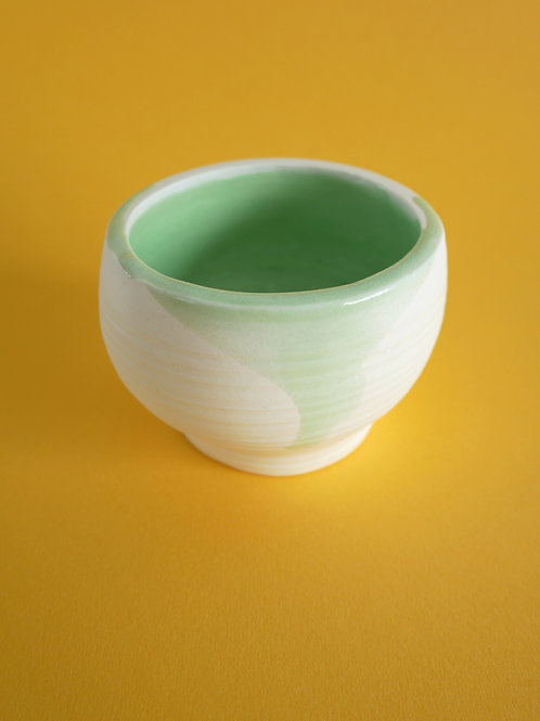 Handthrown Porcelain Vessel with Mint Green Glaze