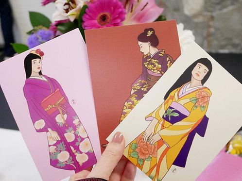 Kimono Gal Postcards (Set of 3)