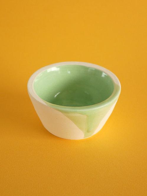 Handthrown Porcelain Bowl with Mint Green Glaze