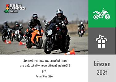 DÁRKOVÝ POUKAZ - silniční kurz celodenní