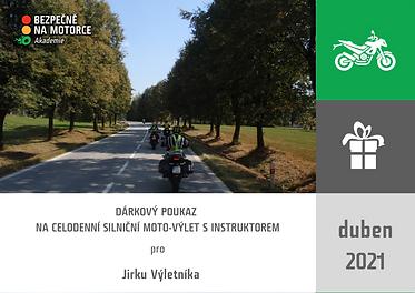 DÁRKOVÝ POUKAZ - silniční výlet s instruktorem