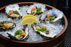 Raw Half-Shell Oysters