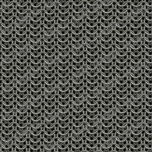 """Chainmail large Fabric Cotton Lycra RETAIL Woven Vinyl 12"""" roll"""