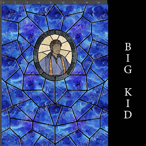 Baron LCC III panel stained glass Adult or big Kid cotton woven Cotton Lycr