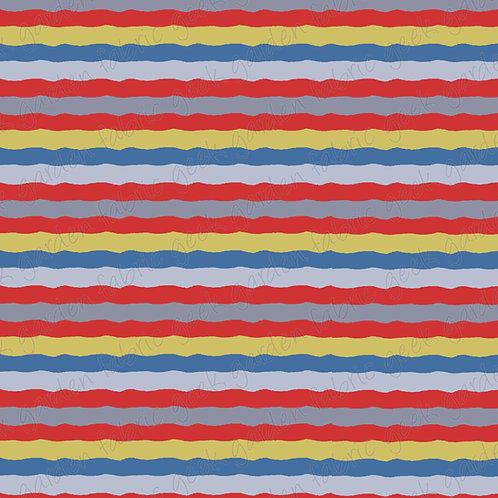 bttf wobble stripe Fabric Cotton Lycra Woven RETAIL