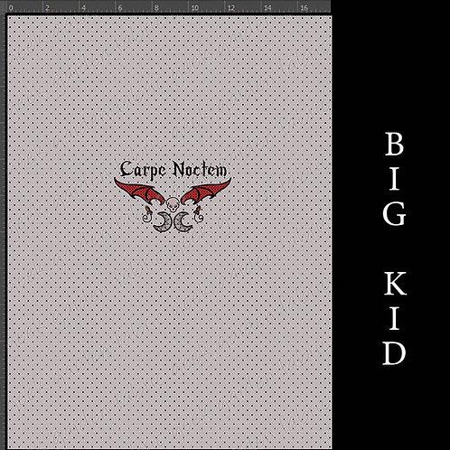 Carpe Noctem Adult or big Kid cotton woven Cotton Ly