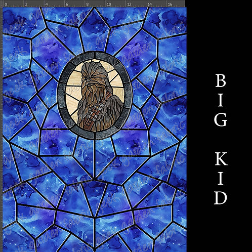 Fuzzball panel stained glass Adult or big Kid cotton woven Cotton Ly
