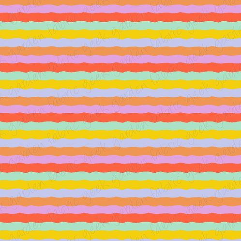 Rockin wobble stripe Fabric Cotton Lycra Woven RETAIL