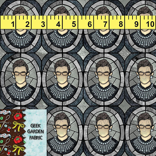 RBG I Dissent  regular scale stained glass Fabric Cotton Lycra Cotton