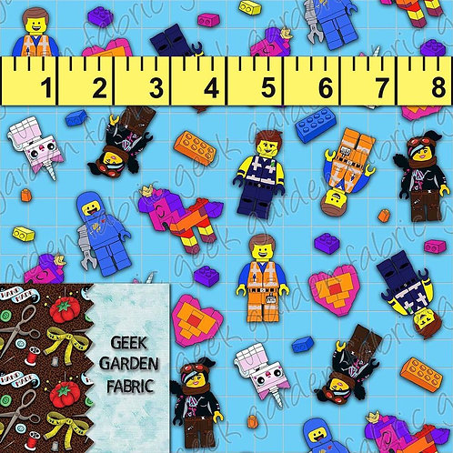 Micro building together Fabric Cotton Lycra Cotton Woven