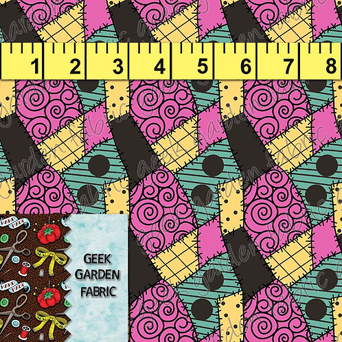 Sally patches Micro scale Fabric RETAIL Cotton Lycra Woven Vinyl
