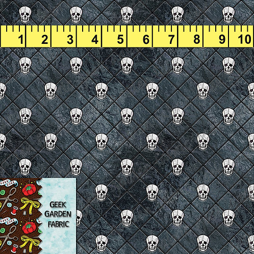 N. DIAMOND CUT SKULL MICRO PREORDER BTY CL, CW, French Terry