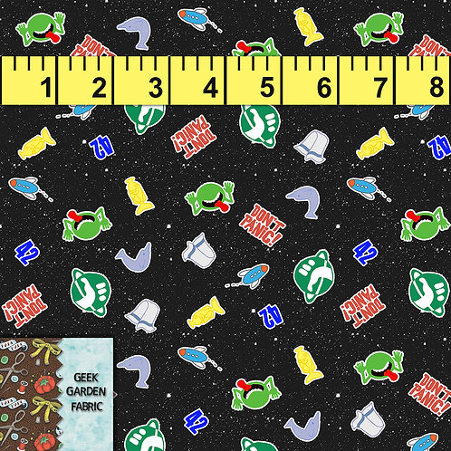 Hitchhiker Micro scale Fabric RETAIL Cotton Lycra Woven Vinyl