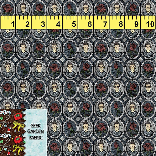 RBG I Dissent ROSE micro scale stained glass Fabric Cotton Lycra Cotton woven