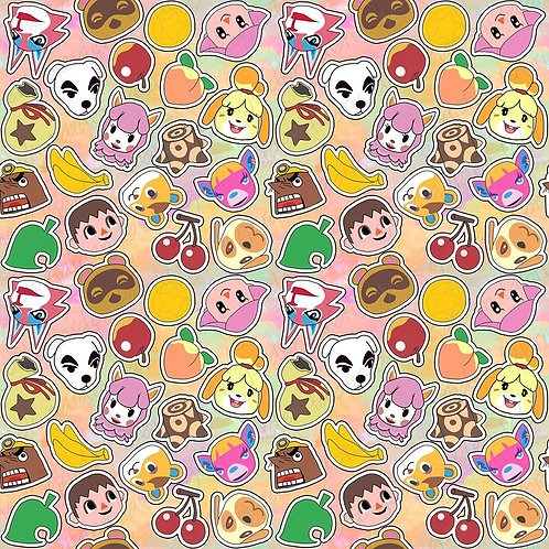 AC stickers  Fabric Cotton Lycra Cotton Woven swim reta