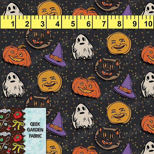 U. HAPPY HALLOWEEN PREORDER BTY CL, CW, French Terry