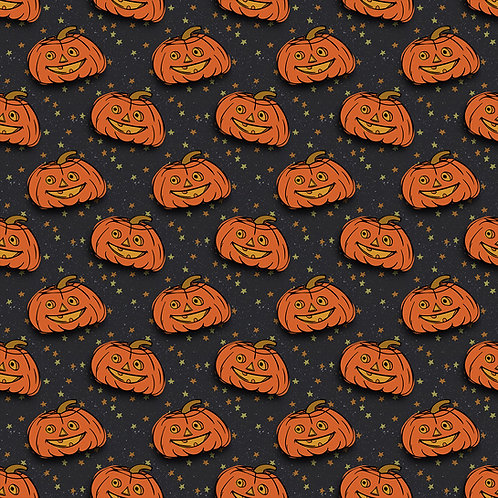 V Pumpkin Toss  Fabric RETAIL Cotton Lycra Woven