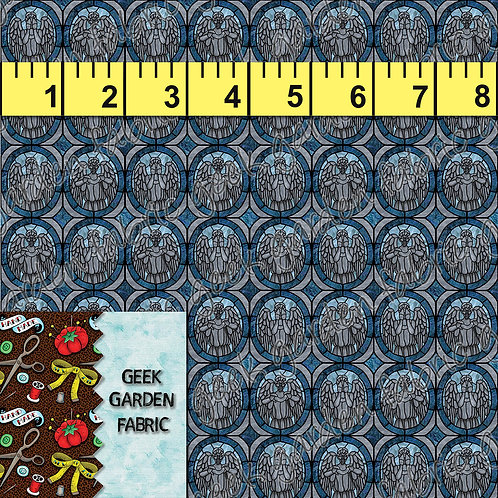 DW Angels Micro scale Fabric RETAIL Cotton Lycra Woven Vinyl