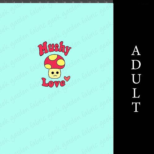 Mushy Love Adult or big Kid cotton woven Cotton Lycra