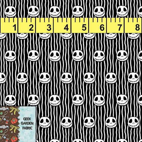 Jack Head Stripe Micro scale Fabric RETAIL Cotton Lycra Woven Vinyl