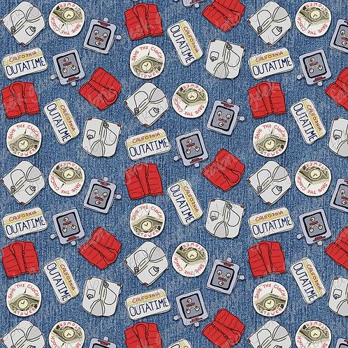 BTTF standard Fabric Cotton Lycra Woven RETAIL
