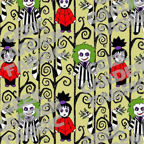 Gothy Toons Fabric Cotton Lycra Cotton Woven