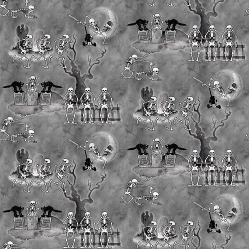 D Dance Macabre Fabric RETAIL Cotton Lycra French Terry
