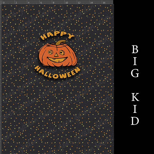 Happy Halloween Adult or big Kid cotton woven Cotton Ly