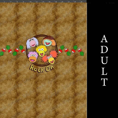 Rock on radish panel Adult or big Kid cotton woven Cotton Lycra