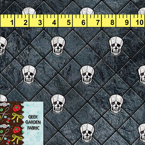 M. DIAMOND CUT SKULL PREORDER BTY CL, CW, French Terry