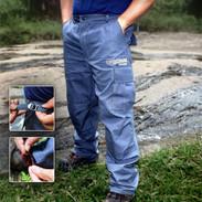 calça masculina detalhes