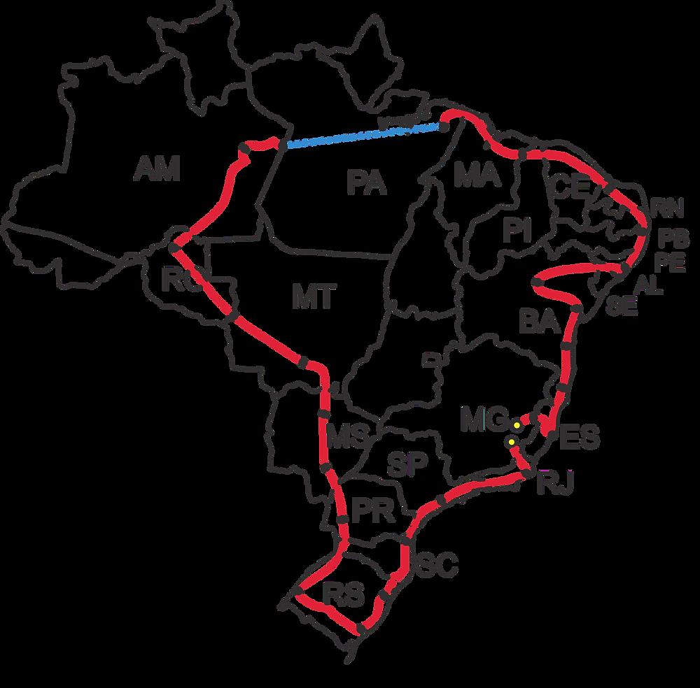 Mais de 21 mil km pelo Brasil