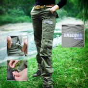calça feminina detalhes
