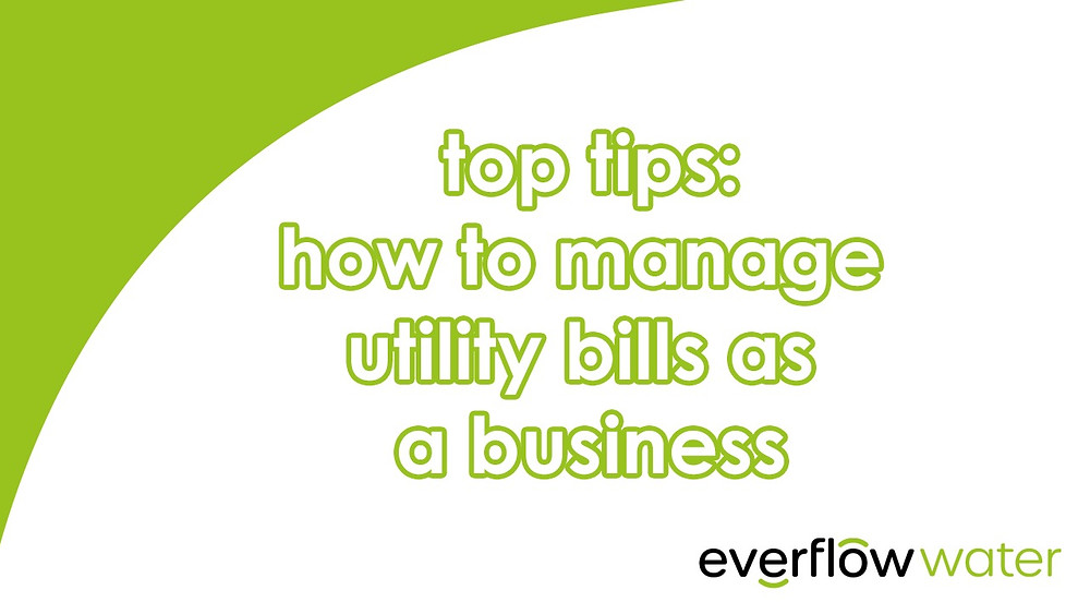 Managing utility bills as a business - Everflow Water