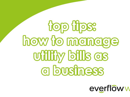 Managing utility bills as a business