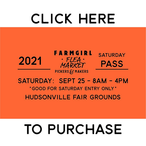 Saturday only - TICKET - FALL 2021