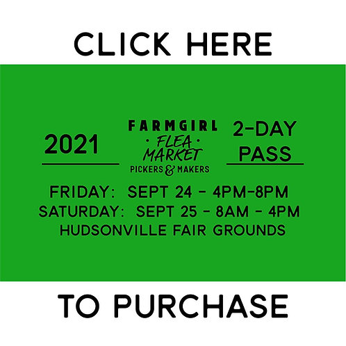 2-day TICKET - EARLY BUYER PASS - FALL 2021
