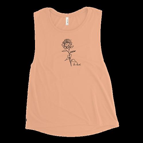 Be Kind Sunflower Ladies' Tank