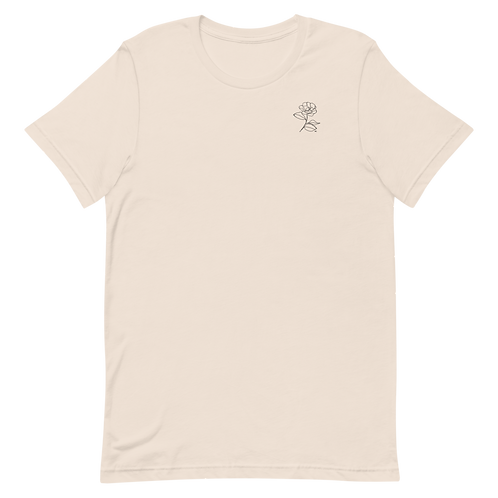 One Line Rose Tee