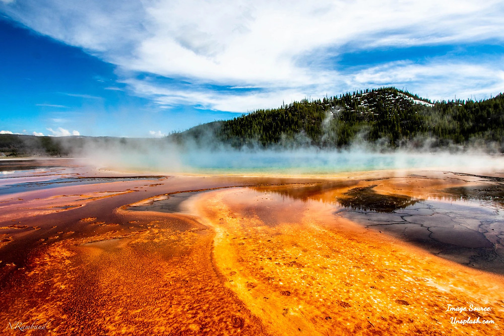 Yellowstone National Park Grand Prismatic Hot Springs