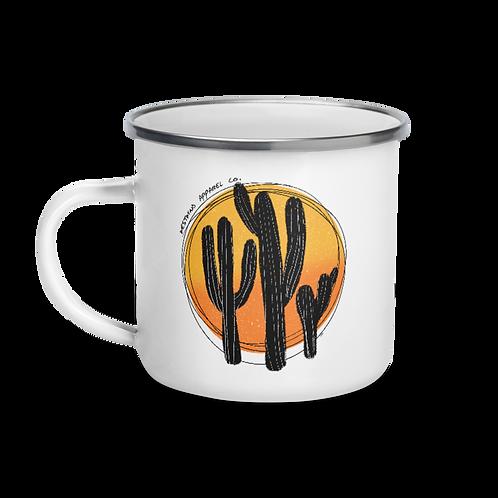 Cactus Sunset Enamel Mug