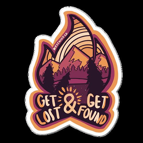Get Lost, Get Found Warm Tone Sticker